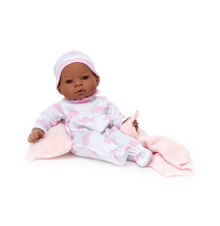 NewbornNurseyPinkClouds dark skin doll