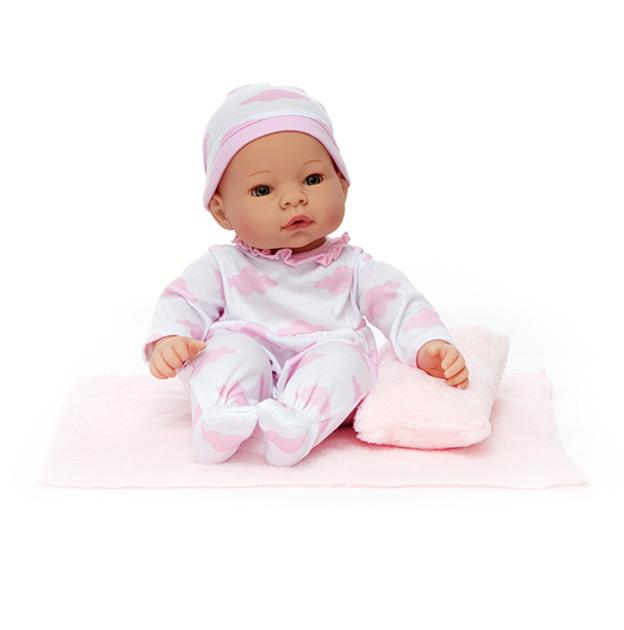 NewbornNurseyPinkClouds light skin doll