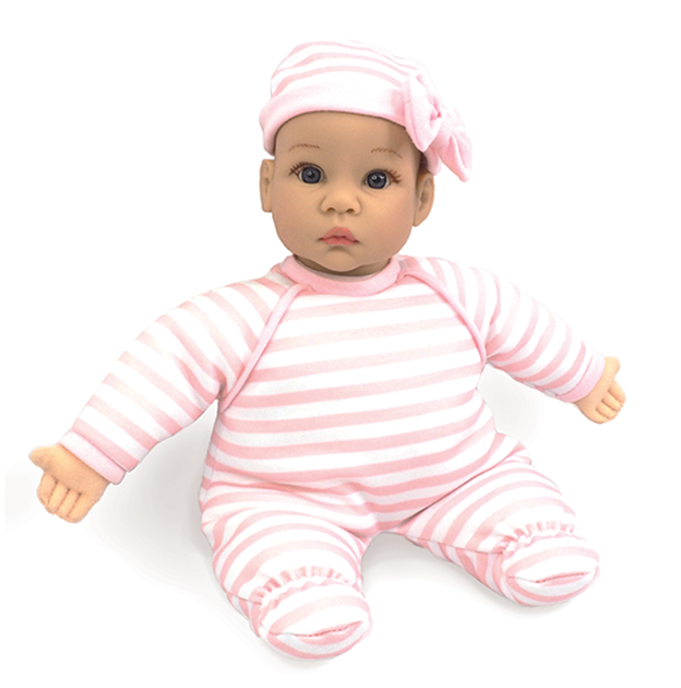 Babble-Baby-Stripe-Sleeper doll