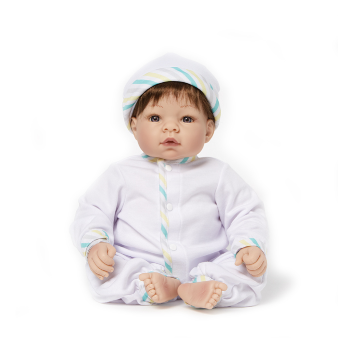 Munchkin Light Skin Tone Blue Eyes-Brown Hair doll