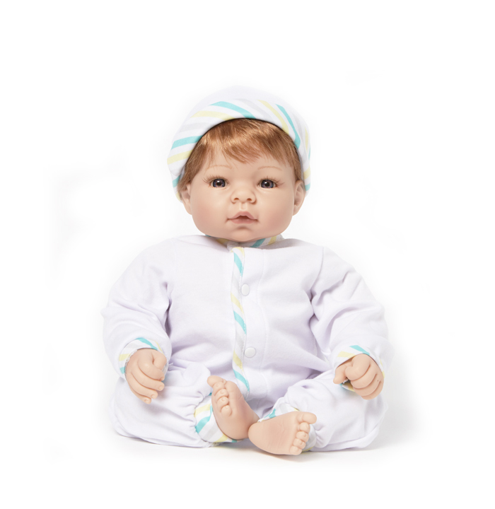 Munchkin Light Skin Tone Blue Eyes-Strawberry Blonde Hair doll