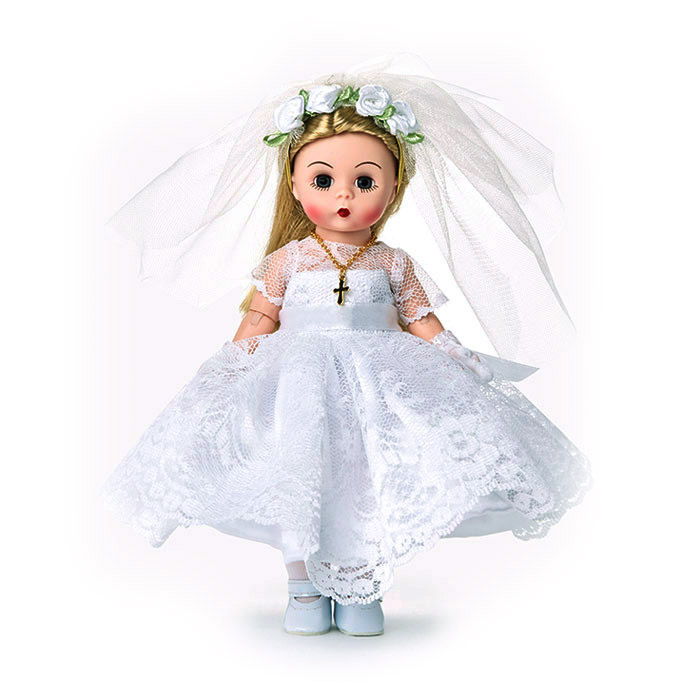 First Communion Doll with Blonde Hair