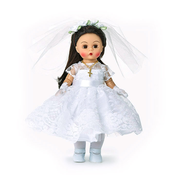 First Communion Doll with Medium Skin and Brunette Hair
